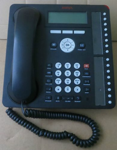 Avaya 1616-I-BLK 1616i One-X Deskphone Value Edition VoiP IP Telephone